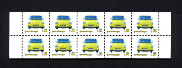 Stamp booklet sheet